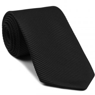 Black Grosgrain Silk Tie #8