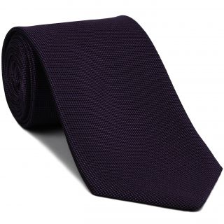 Dark Purple Oxford Silk Tie #FFOXT-13