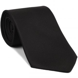 Black Oxford Silk Tie #FFOXT-1