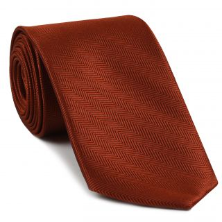 Burnt Orange Herringbone Silk Tie #HBT-9