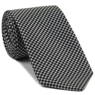 Black & White Hounds Tooth Silk Tie #3