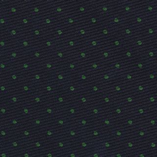Forest Green on Midnight Blue Macclesfield Print Silk Tie #MCPDT-9