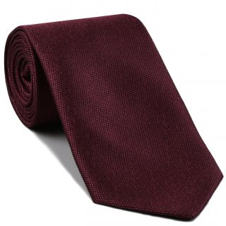 Dark Red Mulberrywood Weave Silk Tie #MWT-14
