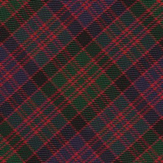 MacDonald of Clanranald Tartan Silk Bow Tie #TABT-11  Navy Blue, Red, Black & Forest Green