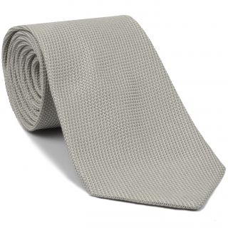 Silver/Brown Grenadine Fina Silk Tie #GFT-23