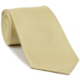 Light Yellow Grenadine Fina Silk Tie #GFT-26