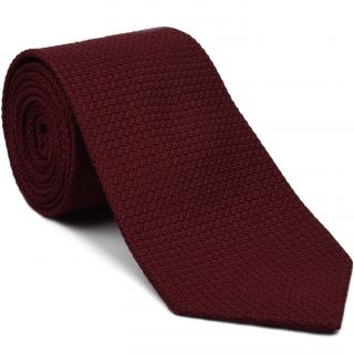 Dark Red Grenadine Grossa Silk Tie #GGT-2