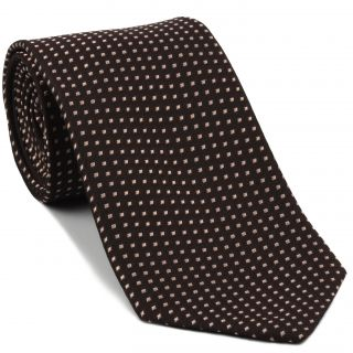 Light Brown on Bitter Chocolate Pattern Silk Tie #EPT-15