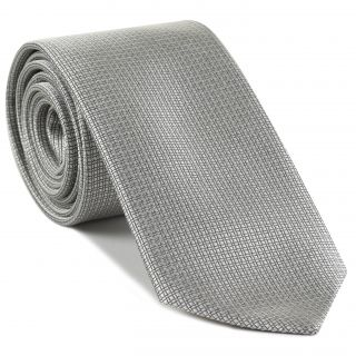Silver Formal/Wedding Silk Tie #WDT-23