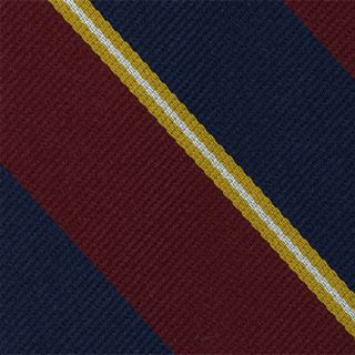 2nd City Of London Stripe Silk Pocket Square #RGP-6