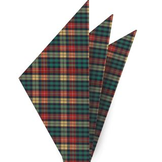 Buchanan Tartan Cotton Pocket square #4