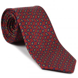 Macclesfield Madder Printed Silk Tie #MT-16