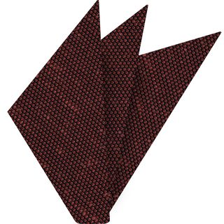 Brick Shantung Grenadine Fina Silk Pocket Square #SHFP-13