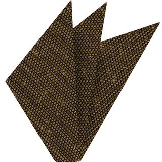 Yellow Gold Shantung Grenadine Fina Silk Pocket Square #SHFP-15
