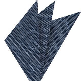 Navy Blue Shantung Grenadine Fina Silk Pocket Square #SHFP-3