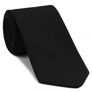 Black Barathea Silk Tie #BAT-6