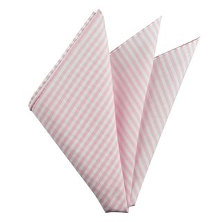 Carlo Riva - Pink & White Linen Arsenal Linen/Cotton Pocket Square #6