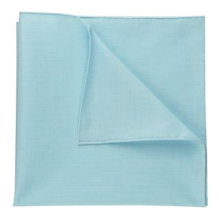 Carlo Riva - Ocean Blue & White Voile Cotton Pocket Square #9