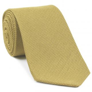 Light Yellow Piccola Grenadine Silk Tie #16