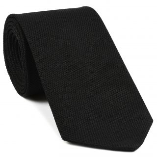 Black Piccola Grenadine Silk Tie # 6