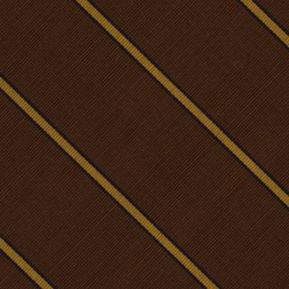Yellow & Midnight Blue On Chocolate Atkinsons Striped Irish Poplin Tie #21