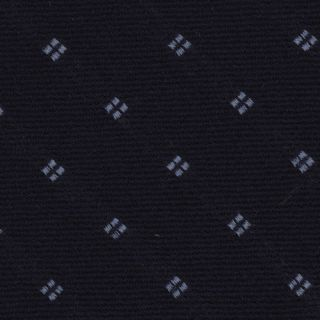 Powder Blue on Midnight Blue Pattern Wool Tie # 2