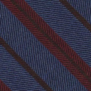 Red & Dark Camel Stripes on Light Lavender Wool Tie # 5