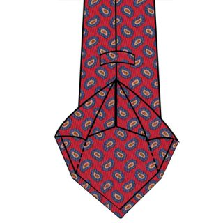6-Fold Lined Tie Construction