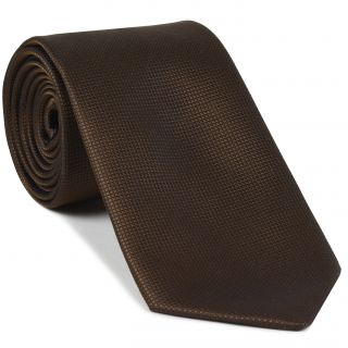 Dark Chocolate Diamond Weave Silk Tie #21