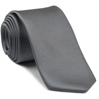 Gray/Silver Satin Silk Tie #15