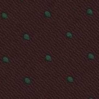 Green Dots On Burgundy Pin-Dot Silk Bow Tie #EPDBT-7