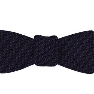 Purple on Midnight Blue Grenadine Pin Dot Silk Bow Tie #GGPDBT-7