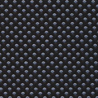 Silver on Black English Dot Silk Pocket Square #EDP-25