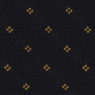 Yellow Gold on Midnight Blue Pattern Wool Pocket Square #GPWP-1
