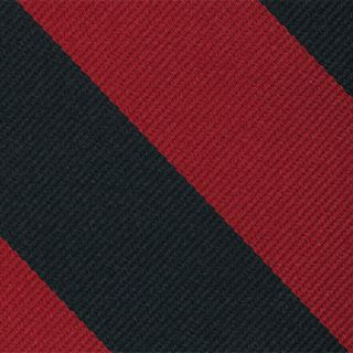 5/6 Royal Victoria Stripe Silk Pocket Square #RGP-10