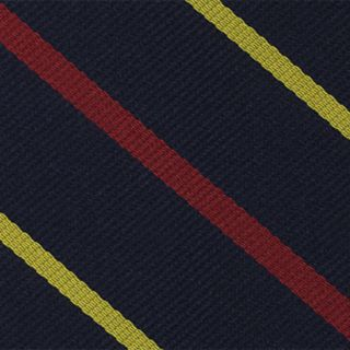 2nd Bombay Pioneers Stripe Silk Pocket Square #RGP-15