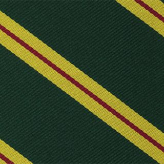 Malaya Regiment Stripe Silk Pocket Square #RGP-32