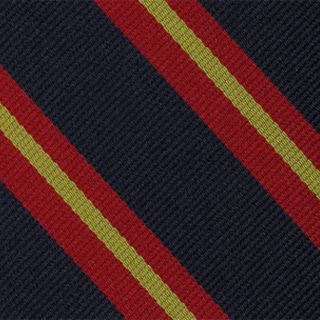 Queen's Own Royal Glasgow Yeomanry Stripe Silk Pocket Square #RGP-9