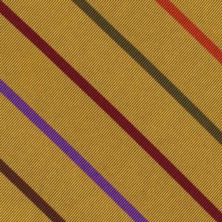 Lavender, Burgundy, Olive Green, Orange & Fuchsia on Yellow Gold Reppe Stripe Silk Tie #8