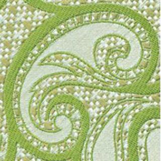 Silver & Brown with Light Green Paisley Silk Tie #1