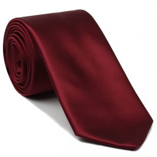 Red Satin Silk Tie #9