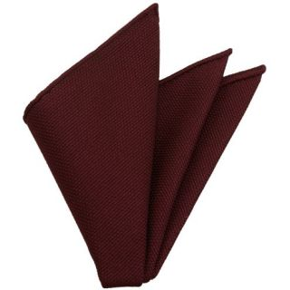 Dark Red Grenadine Fina Silk Pocket Square #2