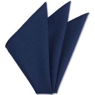 Dark Blue Solid Challis Wool Pocket Square # 6