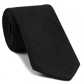 Black Thai Rough Silk Tie # 10