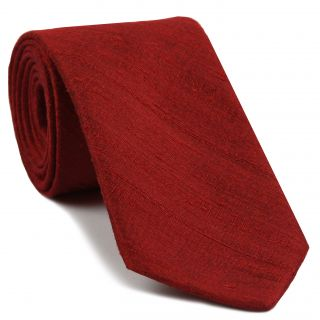 Red Thai Rough Silk Tie # 8