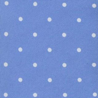 White On Sky Blue Printed Dot Silk Tie #6