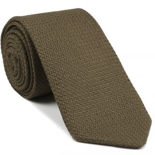 Light Brown Prometeo Grenadine Silk Tie #4