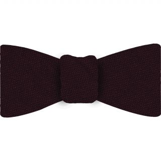 Burgundy Mulberrywood Weave Silk Bow Tie #MWBT-18