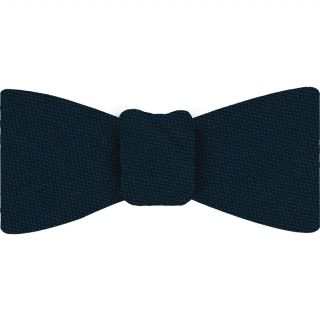 Midnight Blue Mulberrywood Weave Silk Bow Tie #MWBT-4