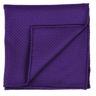 Purple Grenadine Grossa Silk Pocket Square #34